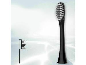 Electric Toothbrush Rechargeable Replacement Toothbrush 8 Heads for Adults Black