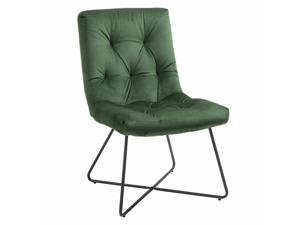 Modern Accent Chair with Straight Midback Solid Metal Base Home Office