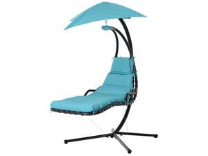 Flong Chaise Lounge Hanging Swing Chair Blue