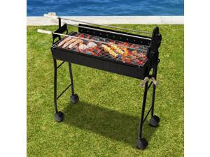 """35.4"""" Portable Charcoal Grill Outdoor Barbecue Trolley BBQ Heat Smoker"""