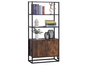 Storage Cabinet with 3 Open Shelves Cupboard for Livingroom Bedroom