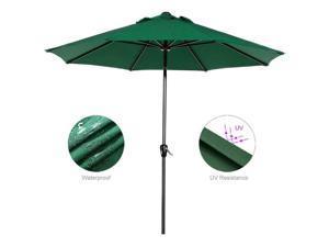 9FT Outdoor Po Umbrella Market Beach Umbrella for Garden GREEN