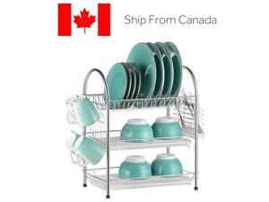 new Kitchen Multi-function Stainless Steel Dish Drying Rack Cup Drainer Strainer