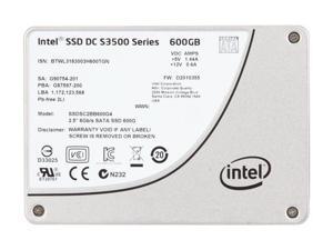 """Intel DC S3500 2.5"""" 600GB SATA III 6Gb/S MLC Solid State Drive P/N: SSDSC2BB600G401"""