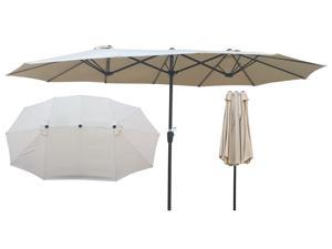 15x9Ft Double-Sided Patio Umbrella Outdoor Market Table Garden Extra Large Waterproof Twin Umbrellas with Crank and Wind Vents for Garden Deck Backyard Pool Shade Outside Deck Swimming Pool