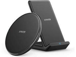 Wireless Chargers Bundle, PowerWave Pad & Stand Upgraded, Qi-Certified, 7.5W for iPhone 11, 11 Pro, 11 Pro Max, Xs Max, XR, XS, X, 8, 10W for Galaxy S20 S10 S9, Note 10 Note 9 (No AC Adapter)