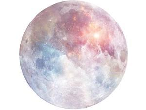 HaloVa Mouse Pad Anti Slip Planet Mouse Mat for Desktops Computer PC and laptops Customized Round Mouse Pad for Office and Home Moon