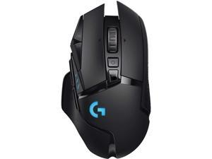 Logitech G502 Lightspeed Wireless Gaming Mouse with Hero 25K Sensor PowerPlay Compatible Tunable Weights and Lightsync RGB - Black