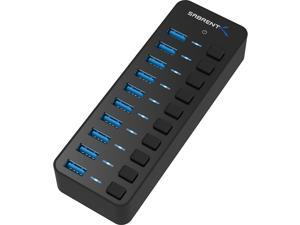 Sabrent 10-Port 60W USB 3.0 Hub with Individual Power Switches and LEDs Includes 60W 12V/5A Power Adapter (HB-BU10)