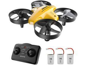 Drone for Kids, Quadcopter Mini Drone for Beginners, with Remote Control, Indoor 3D Flip, Headless Mode and Speed Adjustment & Altitude Hold with 3 Batteries, Great Gift Toy for Boys and Girls