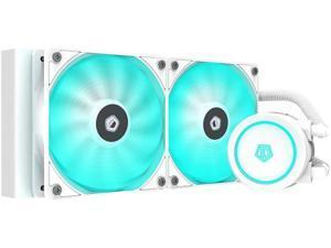 ID-COOLING AURAFLOW X 240 Snow CPU Water Cooler 12V RGB AIO Cooler 240mm CPU Liquid Cooler 2X120mm RGB Fan Intel 115X/1200/2066 AMD AM4