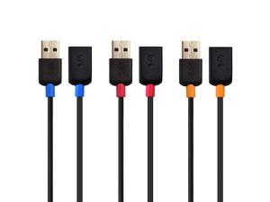 Cable Matters 3-Pack Short USB to USB Extension Cable (Male to Female USB Extender Cable) - 3 ft