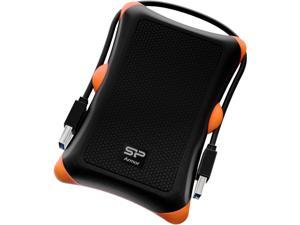 Silicon Power 2TB Rugged Portable External Hard Drive Armor A30 Shockproof USB 3.0 for PC Mac Xbox and PS4 Black