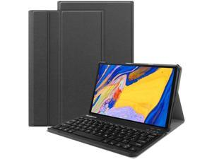 Lenovo m10 Plus Keyboard Case -Backshell Folio Stand Cover with Removable Wireless Keyboard Compatiable with Tab M10 FHD Plus TB-X606F / TB-X606X 10.3 (Black)