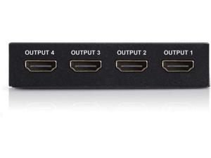 4K HDMI Splitter ?C 1 Input Device to 4 Displays by Ditching Extra Cable Boxes - Powerful Signal Transfer Up to 65ft ?C Record & Stream Games from PS4 Xbox One & More