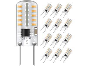 SHINESTAR 12-Pack T4 G8 LED Bulbs Dimmable 20-25W Halogens Replacement 3000K Soft White Bi-Pin LED Puck Light Bulbs for Under Cabinet Under Counter Light Bulbs LED Appliance Bulb