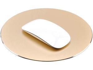 ProElife Premium Aluminum Metal Mouse Pad Mice Mat 8.66 inch (Round Champagne Gold)