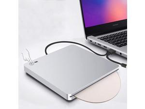 External 3D Blu Ray DVD Drive, USB 3.0 and Type-C Blu Ray CD DVD Drive Player Ultra Slim Slot-in CD DVD Burner with Smart Touch Compatible with Windows XP/7/8/10, Mac OS for MacBook, Laptop, PC