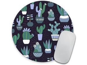 Round Mouse pad Cactus Mouse pad Cactus Mousepad Cactus Office Decor Mouse mat Desk Accessories Succulent Mouse pad