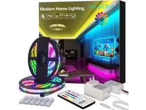 ViLSOM LED Strip Lights 50FT 15M 810LEDs with 44Keys Remote LED Lights for Bedroom Room TV Kitchen and Christmas Decorations RGB SMD2835 LED Tape Lights(2 Rolls of 25 Feet)