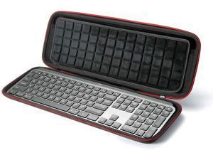 Hard Case for Logitech MX Keys Advanced Wireless Illuminated Keyboard, Carrying Storage Bag - Black(Black Lining)