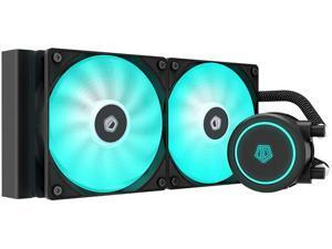 ID-COOLING AURAFLOW X 240 CPU Water Cooler 12V RGB AIO Cooler 240mm CPU Liquid Cooler 2X120mm RGB Fan Intel 115X/2066 AMD TR4/AM4