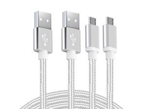 Android Charger Micro USB Cable 2Pack 6FT Fast Charging Cord for Samsung Galaxy S6/S7 Edge J3/J7 Star Prime Crown Note 4/5 LG G4 K40 K30 K20 Stylo 3 Moto Xbox PS4 Kindle Fire Tablets and Phones