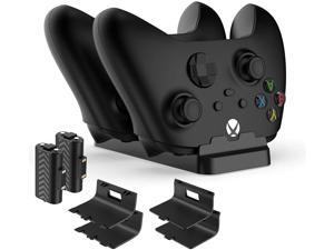 Charger Stand for Xbox Series X S Controller - Fast Dual Dock Controller Charging Station for Xbox Series X S/Xbox One/One S/One X Wireless Controllers Charging Dock with 2 Rechargeable Battery Packs