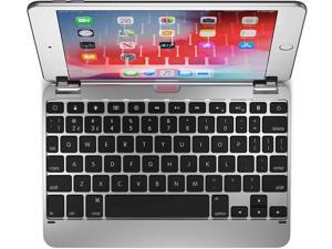 Brydge 7.9 Keyboard Compatible with iPad Mini 4th and 5th Generation | Aluminum | Wireless | Rotating Hinges | 180 Degree Viewing (Silver)