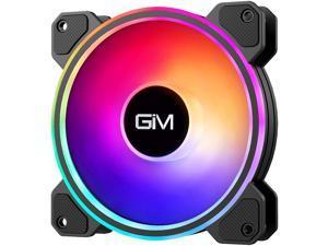 GIM KB-24 RGB Case Fan 120mm Fan Single Pack