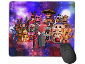 Anti-Slip Rubber Mouse Pad FNAF Waterproof Anime Gaming Mouse Pad Mouse Mat with Durable Stitched Edges Desk Accessories Mousepad for Laptop Computer PC Wireless Mouse 10x12x0.12 in