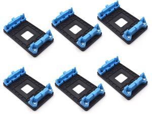 Antrader 6-Pack Plastic AMD CPU Fan Bracket Base for AM2 AM2+ AM3 AM3+ FM1 FM2 Socket Blue