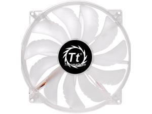 Thermaltake 200mm Pure 20 Series Blue LED Quiet High Airflow High Performance Easy to Install Case Fan CL-F016-PL20BU-A Clear w Blue LED