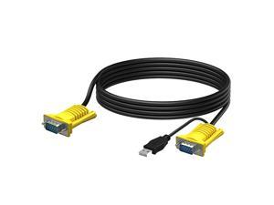 2-in-1 USB VGA KVM Cable for 801UKL 10FT Connect with KVM Switches USB Keyboard/Mouse Cable and Monitor Cable 3M
