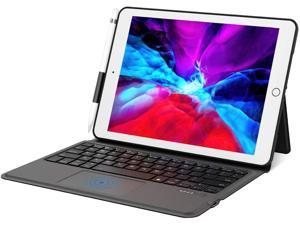 10.2 8th/7th for 2020/2019 iPad Keyboard Case with Trackpad - EWIN Folio Cover for 2017 iPad Pro 10.5 inch & 2019 iPad Air 3 10.5