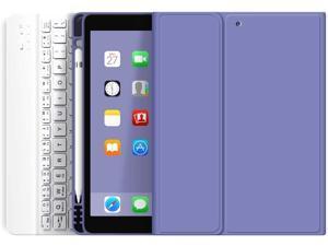 kenke iPad Keyboard Case 9.7 inch for New iPad 2018 2017 case with Pencil Holder iPad Air 2 & 1 Detachable Wireless Bluetooth Keyboard Cover iPad 5th/6th Generation (Purple)