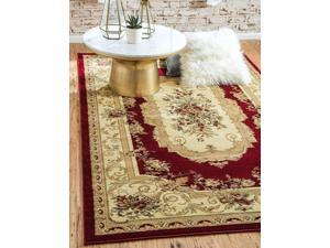 Unique Loom Versailles Collection Traditional Classic Red Area Rug (8 0 x 10 0)