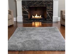 Gorilla Grip Original Faux-Chinchilla Area Rug 5x7 FT Many Colors Soft Cozy Pile Washable Kids Carpet Rugs for Floor Luxury Shag Carpets for Home Nursery Bed and Living Room Dark Gray