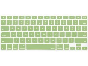 MOSISO Silicone Keyboard Cover Compatible with MacBook Pro 13/15 Inch (with/Without Retina Display, 2015 or Older Version),Older MacBook Air 13 Inch (A1466 / A1369, Release 2010-2017), Avocado Green