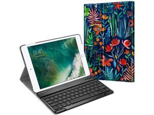 Fintie Keyboard Case for iPad 9.7 2018/2017 / iPad Air 2 / iPad Air - Slim Shell Stand Cover w/Magnetically Detachable Wireless Bluetooth Keyboard for iPad 6th / 5th Gen, Jungle Night
