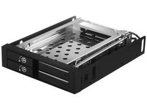 "Kingwin SATA Internal Hard Drives, SATA Tray-Less Hot Swap Mobile Rack for Dual 2.5"" SSD/HDD. Hard Drive Backplane Enclosure, Support SATA I/II/III & SAS I/II 6 Gbps Performance (KF-259-BK)"