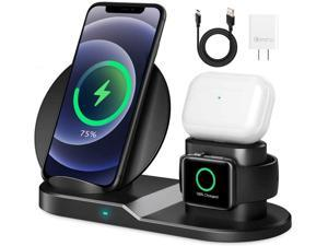 AICase Qi Wireless Charger,3-in-1 Charging Pad,Multiple Devices Wireless Charger Dock for Air Pods iWatch iPhone