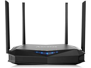 Ancatus-WiFi 6 Wireless Computer Router AX1800 1.8Gbps Gigabit MU-MIMO OFDMA 802.11ax Dual Band Internet Router Long Range Gaming Router Parental Control WPA3 Ethernet Firewall Ipv6 VPN 2000 sq.ft