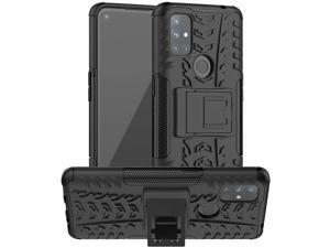 Osophter for Oneplus Nord N10 Case1+Nord N10 Case Dual Layer Shock-Absorption Cover Protective Cell Phone with Kickstand Combo PC+TPU Back Cases for Oneplus Nord N10 5G(KUI Black)