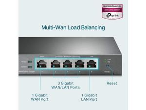 TP-Link Multi-WAN Wired VPN Router   Up to 4 Gigabit WAN Ports   SPI Firewall SMB Router   Omada SDN Integrated   Load Balance   Lightening Protection   Limited Lifetime Protection (TL-R605)
