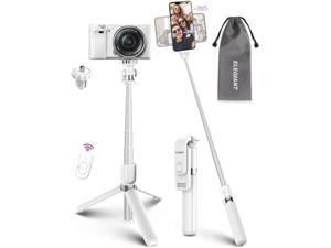 Selfie Stick Tripod ELEGIANT Lightweight Aluminum All in One Extendable Selfie Stick Bluetooth with Remote Compatible with iPhone 12/12 Pro/XS Max/11/XS/XR/8P Galaxy S20/S10/S9 Gopro Small Camera