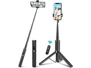 Selfie Stick Tripod BlitzWolf Lightweight Aluminum All in One Extendable Phone Tripod Selfie Stick Bluetooth with Remote for iPhone 12/11 Pro/XS MAX/XR/XS/X/8/8 Plus/7 Plus Galaxy S10/S9 More(Grey)