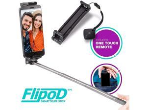 Flipod Selfie Stick All-in-one Universal Extendable Smart Adjustable Phone Cradle Selfie Mount Tripod Stand Device with Remote Control for iPhone X/iPhone 8/8 Plus/iPhone 7/iPhone 7 Plus/Gal