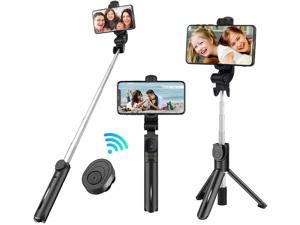 Selfie Stick TripodDOODBI Lightweight Aluminum All in One Extendable Phone Tripod Selfie Stick Bluetooth with Detachable Wireless Remote for iPhone 11/Xs MAX/XR/XS/X/8/8 P/7GalaxyHuaweiMore