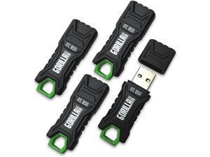 GorillaDrive 3.0 Ruggedized 64GB USB Flash Drive (4-Pack)